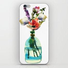 Spring flowers in Bottle 1 iPhone Skin