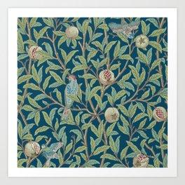 Birds and Pomegranates - William Morris Art Print