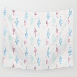 1980s Style Spots and Dots Pattern Wall Tapestry