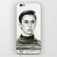 wesley bird iPhone & iPod Skins featuring Wesley by Olechka