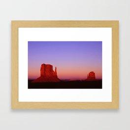 Sunset at Monument Valley Framed Art Print