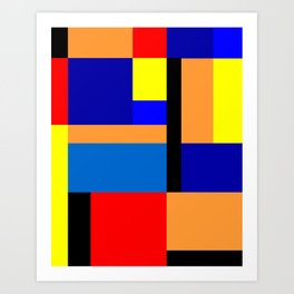 Mondrian #35 Art Print