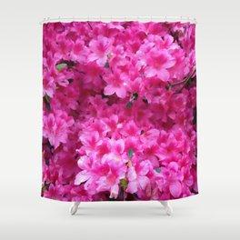 Bumbling Amidst the Azaleas Shower Curtain
