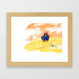 Wheat Field Knight Framed Art Print