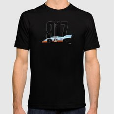 Porsche 917-026 Gulf Racing Mens Fitted Tee MEDIUM Black