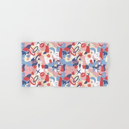Man and girl surrealistic pattern Hand & Bath Towel