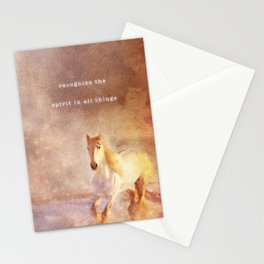 Spirit In All Things   Bohemian Horses Stationery Cards