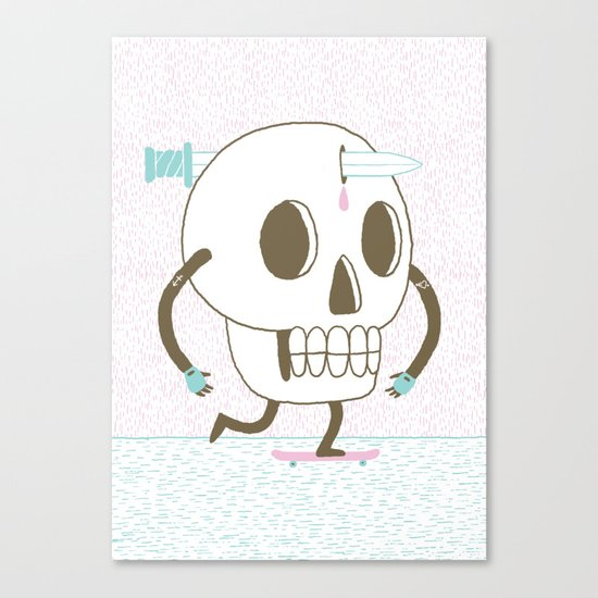 As I Skate through the Valley of Death Canvas Print
