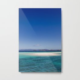 Amazing white beach, blue sea island Philippines | travel photography | art print Metal Print