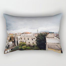 View of Naples with clouds Rectangular Pillow