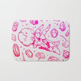 Triceratops Rocks!   Fiery Pink Ombré Bath Mat
