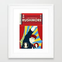 rushmore Framed Art Prints featuring Rushmore by Bill Pyle