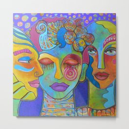 All the colors I am inside Metal Print