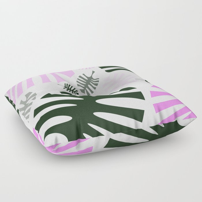 Monstera Leaves Floor Pillow