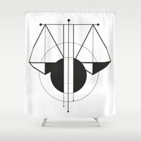 libra Shower Curtains featuring Libra by LydiaS
