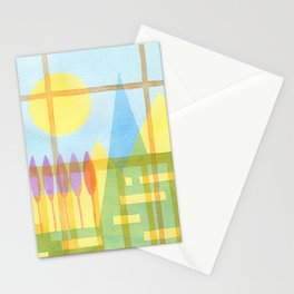 From the inside out -watercolor landscape Stationery Cards