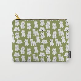 Westies on Moss Carry-All Pouch