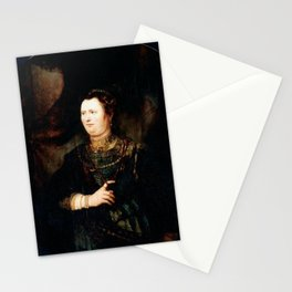 Rembrandt - Portrait of a woman in military costume Stationery Cards