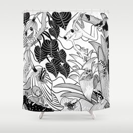 Forest Frogs Shower Curtain