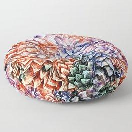 Artichokes and Pangolins Bright Floor Pillow