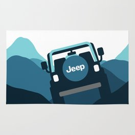 Jeep 'Driving' Blue Mountain Rug