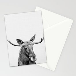 Moose print, Woodland nursery decor, nursery art, animal prints, Forest animals Stationery Cards