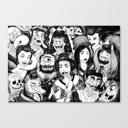 Ain't No Party Like A Yokai Party Canvas Print