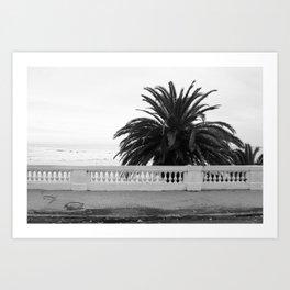 Colonia oceanside sidewalk Art Print