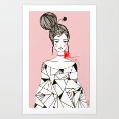 Miss fashion Art Print
