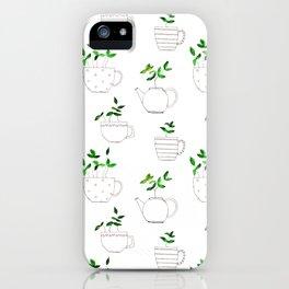 Tea plants in tea cups iPhone Case