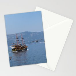 The Black Pearl Is Sailing The Waters Once Again Stationery Cards