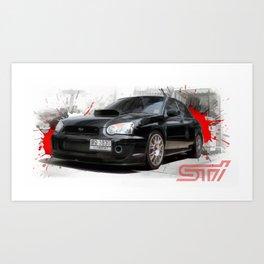 Cars: Subaru WRX STI Art Print