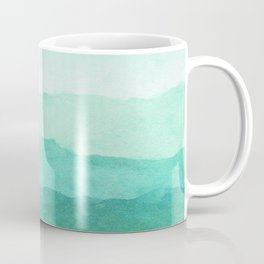 Ombre Waves in Teal Coffee Mug