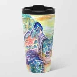 Rainbow Sea Turtle 2 Travel Mug