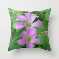 INDIA - Purple Flowers Throw Pillow