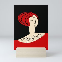 Red girl Mini Art Print
