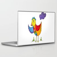 "chicken Laptop & iPad Skins featuring ""Chicken""  by Holly Lynn Clark"