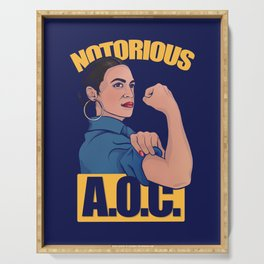 Notorious AOC alexandria ocasio cortez Serving Tray