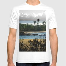 Changing nature White MEDIUM Mens Fitted Tee