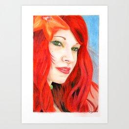 Rossa come il fuoco Art Print