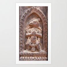 Bhaktapur Garuda Art Print