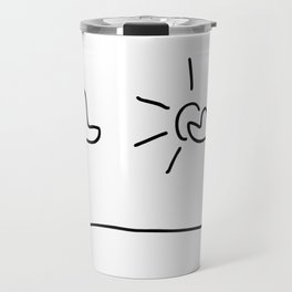 sky with the sun and clouds Travel Mug