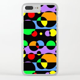 Rainbow Geometric Multicolored Modern Circle Pattern Clear iPhone Case