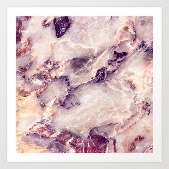 Pink marble texture effect Art Print