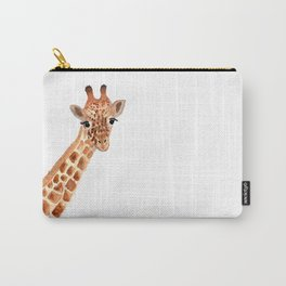 Watercolor Giraffe Carry-All Pouch