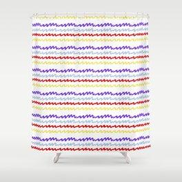 Radio Waves Shower Curtain