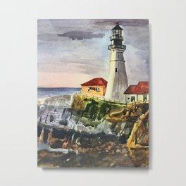 Portland Lighthouse Maine United States Metal Print