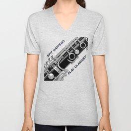 Love to Play Clarinet Unisex V-Neck