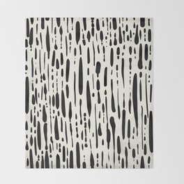 Abstract Stripes in Cream and Black III Throw Blanket