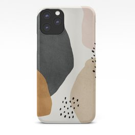 Woman silhouette art, Mid century modern art iPhone Case
